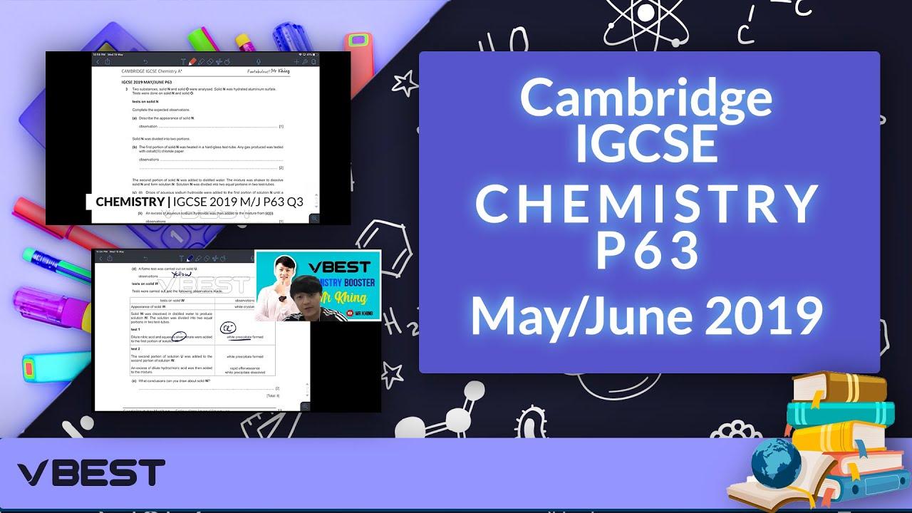 CHEMISTRY P63 M/J/21 | Question 3 IGCSE Past Paper Discussion