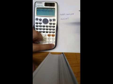 Complex Exponential function using Casio-991ES