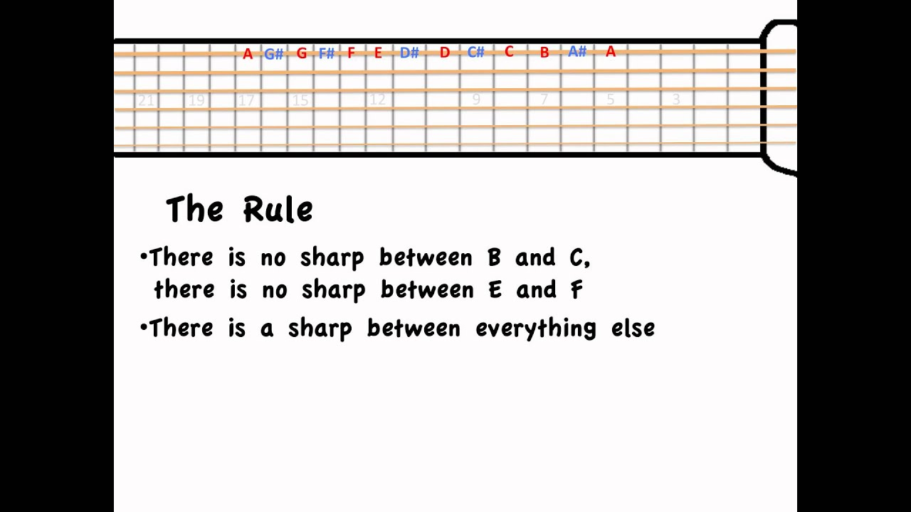 Understanding notes on the guitar fretboard lesson 1.mp4 - YouTube