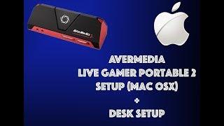 AVERMEDIA LIVE GAMER PORTABLE 2 SETUP FOR MAC USING OBS + DESK SETUP