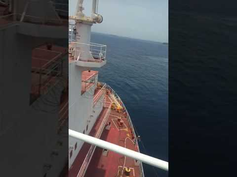 Ship Operation in west African offshore both vessel underway engine