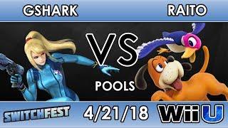 Switchfest Gshark Zero Suit Samus VS Raito Duck Hunt Smash 4 Pools