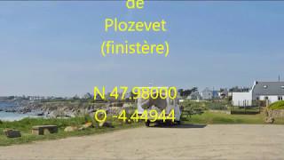 Parking autorisé camping car de Plozevet finistère