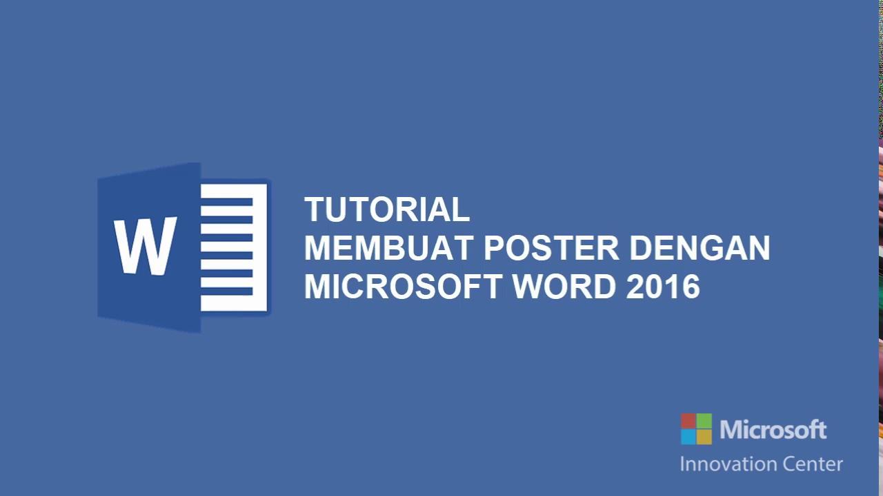 Tutorial Membuat Poster Dengan Microsoft Word Youtube