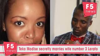 Teko Modise secretly marries wife number 3 Lerato