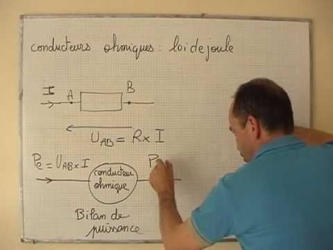 cours 1s physique ch 8 le conducteur ohmique la loi de joule youtube. Black Bedroom Furniture Sets. Home Design Ideas