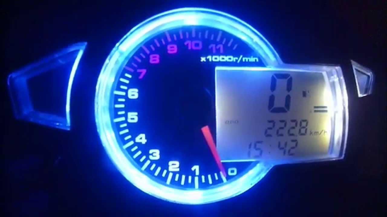 Digital Speedometer Honda Wave Dash 110R Part1 - YouTube