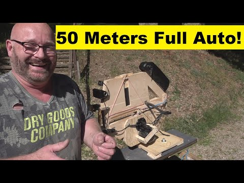 The wonders of the full size, full auto crossbow.