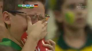 Brazil fans reaction to loss in Brazil vs Germany match in World Cup 2014