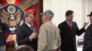 Sen. Kowall participates in Fraser VFW Vietnam Veteran Pinning Ceremony