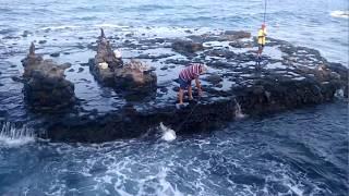 """Pescando en una """"isla pequeñita"""", Pozo Izquierdo, Gran Canaria"""
