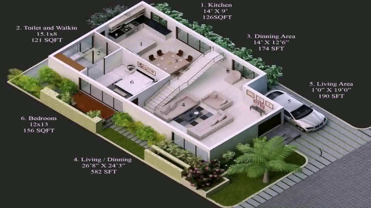 House Plans For 20x30 Site South Facing - YouTube