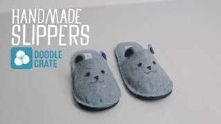 Make Your Own Felt Slippers