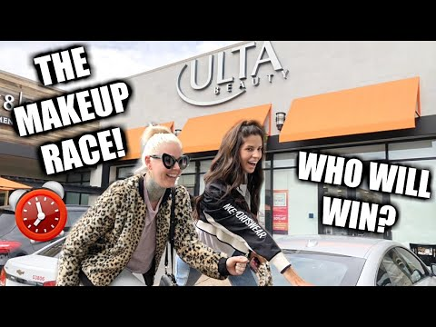 MAKEUP RACE! WHO CAN BUY A FULL FACE OF MAKEUP FIRST ULTA feat. Kristen Leanne