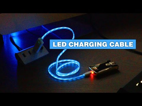 This LED Charging Cable Visualizes Electricity Flowing To Your Phone