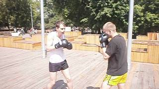 Встречный удар в Боксе Московский бокс