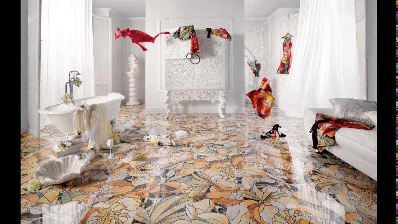 Flower design bathroom tiles - YouTube on Floral Tile Bathroom Ideas  id=23989