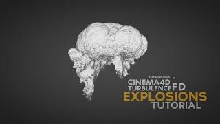 CINEMA4D tutorial - explosions  (X-Particles & TurbulenceFD)