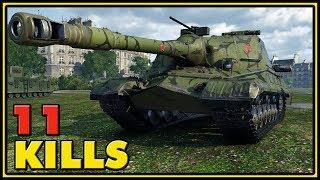 Object 268 - 11 Kills - 1 VS 4 - World of Tanks Gameplay