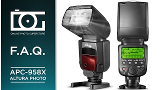 speedlite flash for canon e ttl auto focus hss professional flash   faq tutorial   by altura photo
