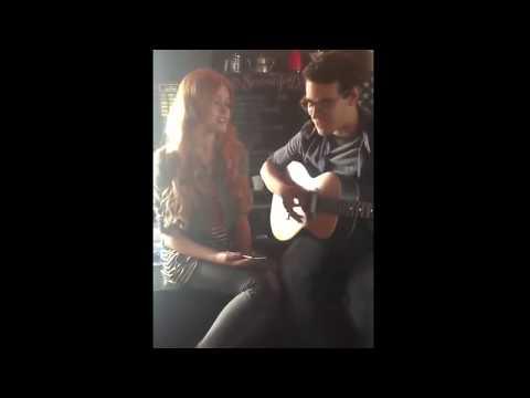 Katherine McNamara and Alberto Rosende Singing on Shadowhunters Set