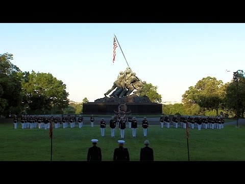 Sunset Parade At USMC War Memorial