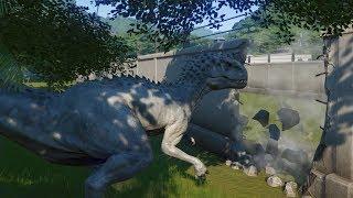 Indominus Rex Escapes Rexy Saves the Park - Jurassic World Evolution