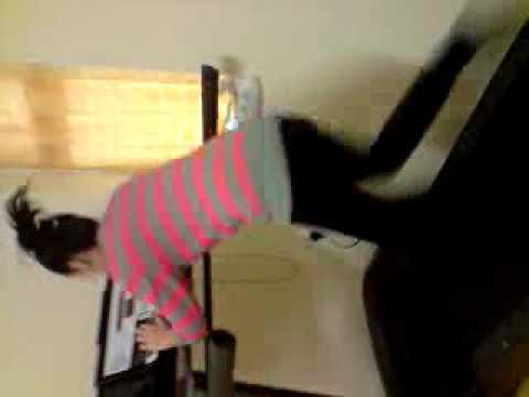 shagufa on the treadmill