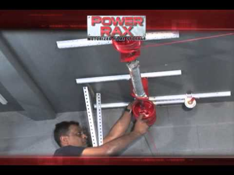 Power Rax 4x8 Motorized Ceiling Storage System