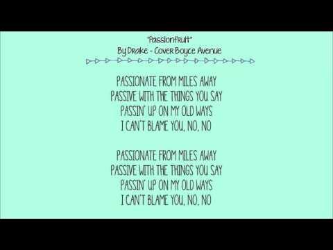 Passionfruit - Drake (Boyce Avenue acoustic cover) - Lyric Video