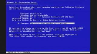 Installing Windows NT 3.51 (RTM)