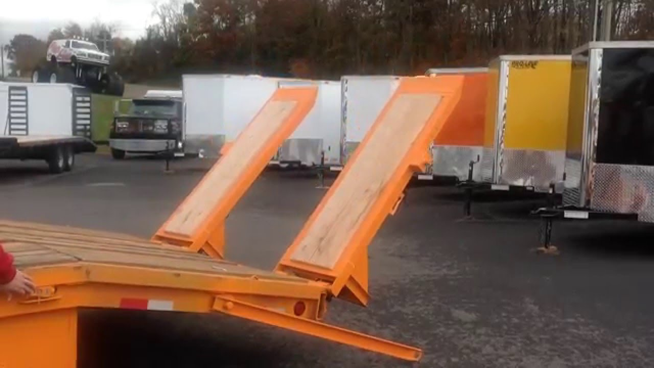 Equipment Trailer Hydraulic Ramp Installation - Pro-Line Trailers Service on