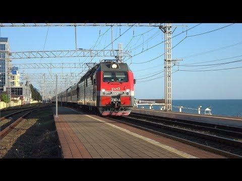 2ЭС4К 137 с поездом №014 Адлер — Саратов.