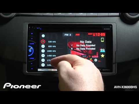 How To - AVH-X3600BHS - Use The HD Radio Tuner