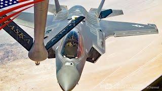 ステルス戦闘機F-35AライトニングIIの空中給油