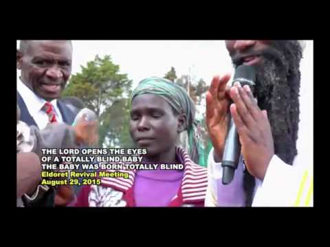 The LORD Creates a NEW IRIS!  MIRACULOUS! Eldoret 2015, Prophet Dr. Owuor!