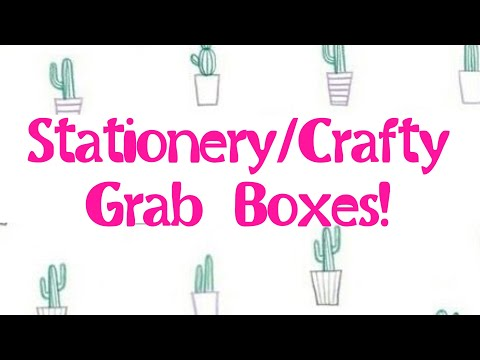 **ALL SOLD** Stationery/Crafty Grab Boxes!