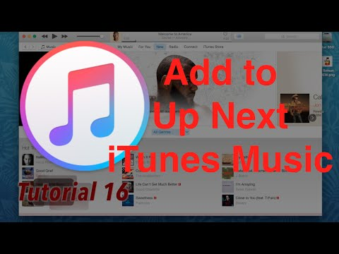 Add Songs to Up Next, Apple Music in iTunes 12.4.1 | Tutorial 16