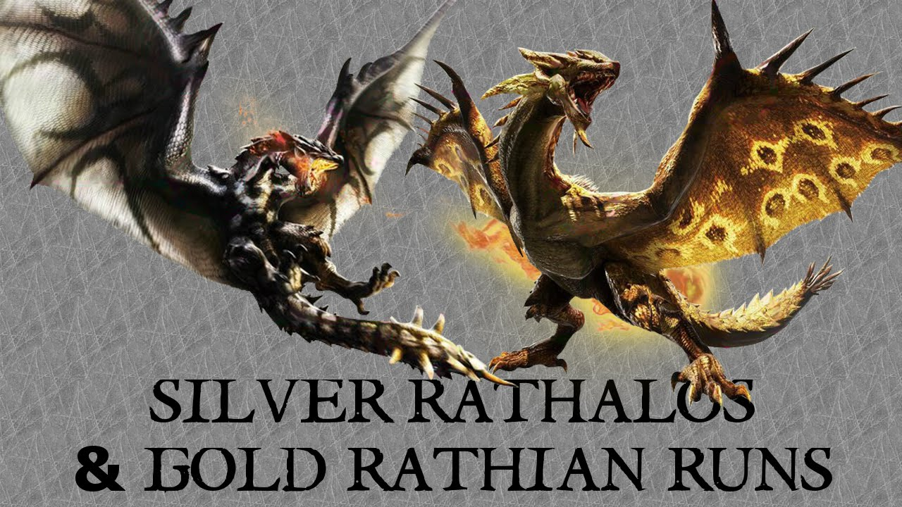 [MH4U - Online] HR7 Silver Rathalos & Gold Rathian Farming ... Gold Rathian And Silver Rathalos