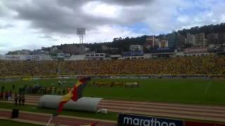 Recibimiento de Sociedad Deportiva Aucas Vs Liga Deportiva Universitaria de Portoviejo