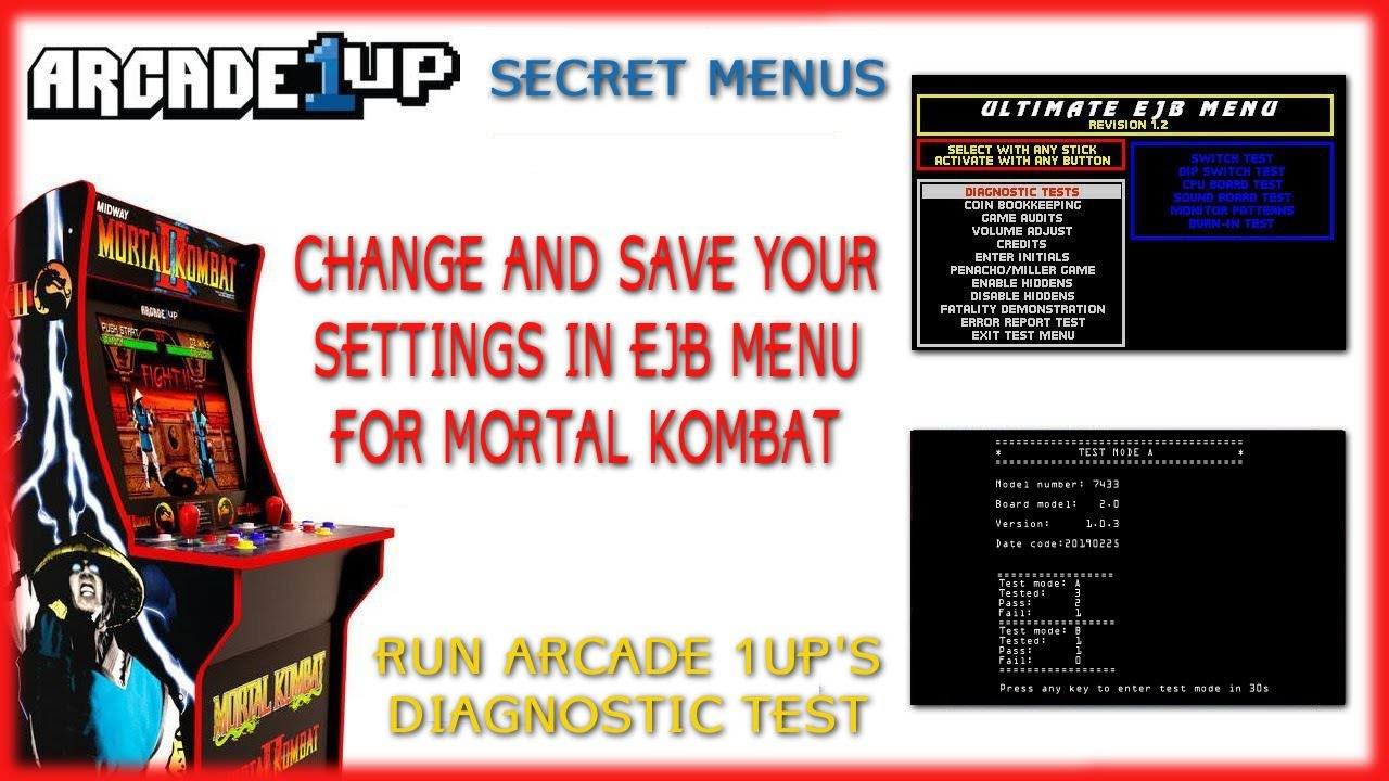 Arcade1up Mortal Kombat - Change and Save Settings in EJB Menu