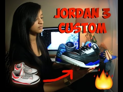 HOW TO PAINT CUSTOM JORDANS WITH ANGELUS PRODUCTS Aqua 3s Dying Sockliner