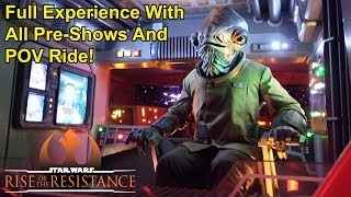 Star Wars: Rise of the Resistance Full Ride Experience with Pre-Shows & POV Full Ride, Galaxy's Edge