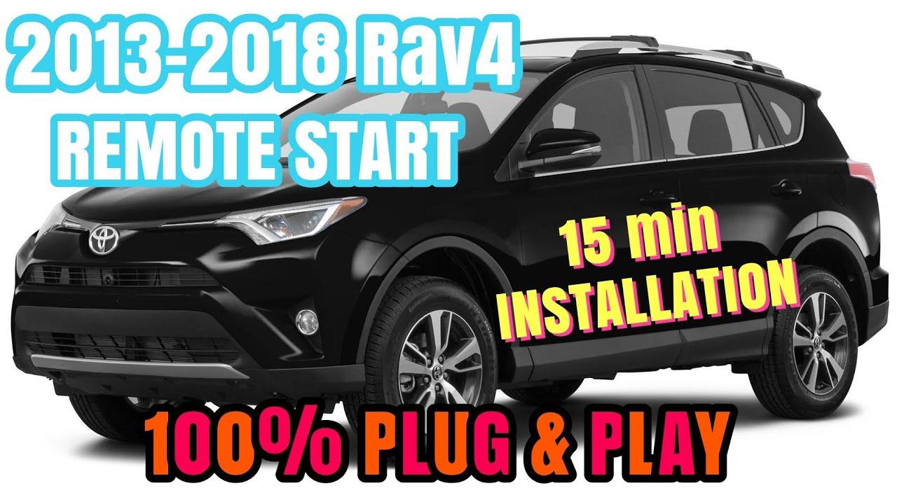 Plug /& Play Remote Start 2013-2018 Toyota RAV4  Push-Start One Plug Install