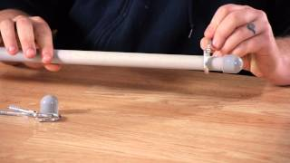 How To Make A Conduit Curtain Rod For A Bay Window : Electrical Work