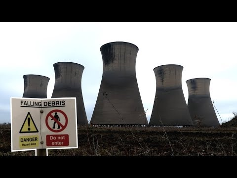 EXPLORING ABANDONED POWER STATION COOLING TOWERS!