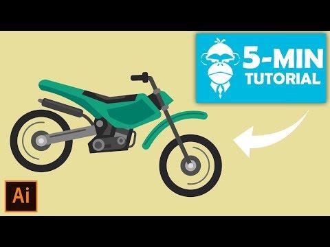Motorcycle (Motocross) - Illustrator Tutorial | Adobe Creative Cloud thumbnail