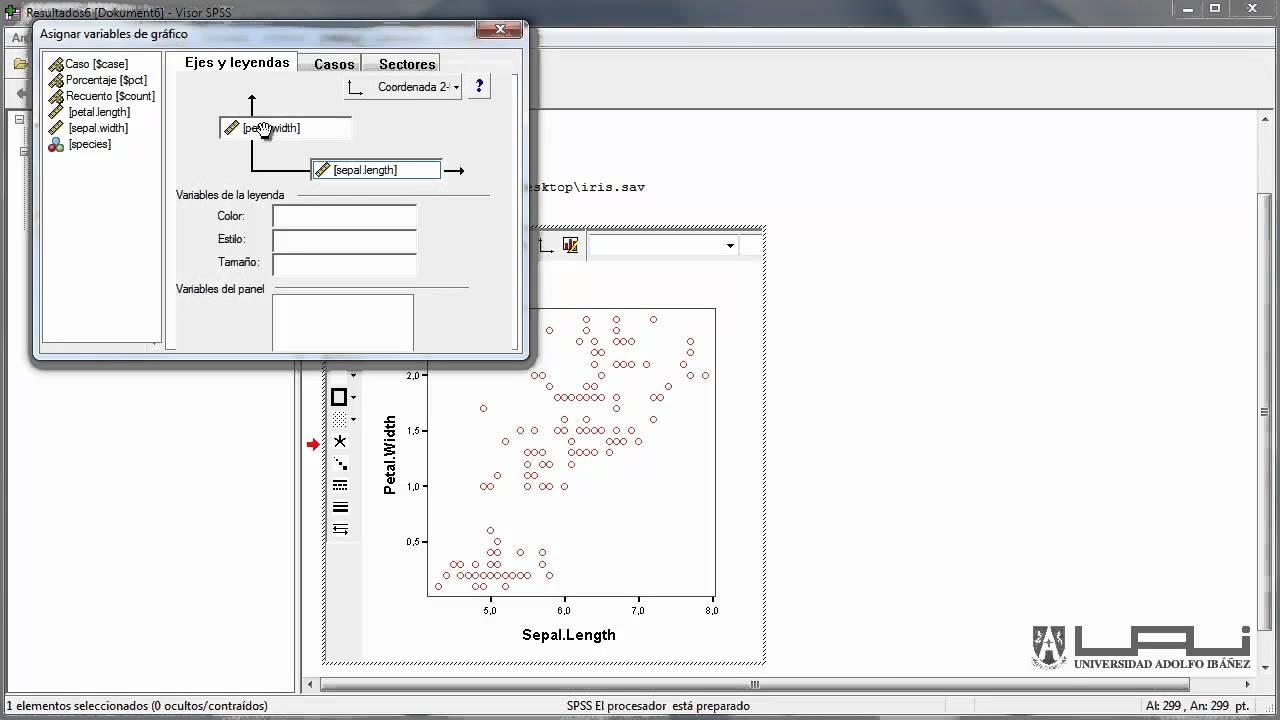 construcci u00f3n de diagrama de dispersi u00f3n en spss mp4