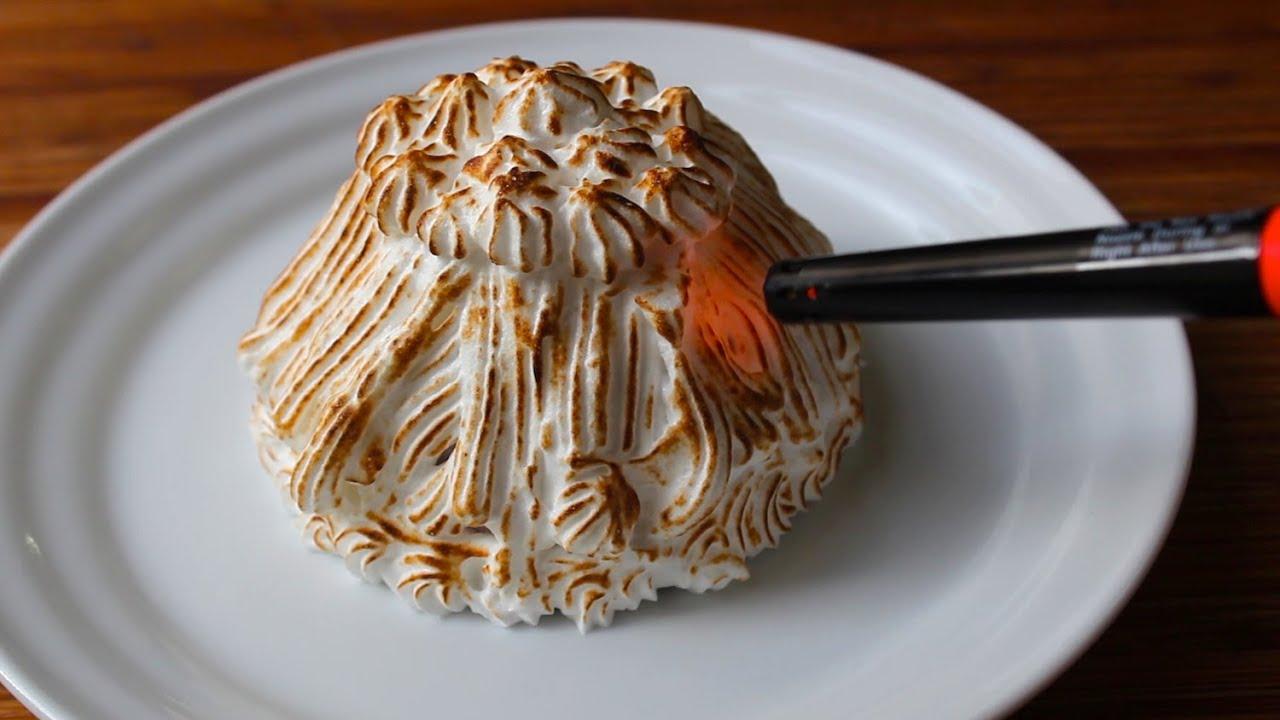Baked Alaska With A Lighter How To Make Baked Alaska Ice Cream Cake Youtube