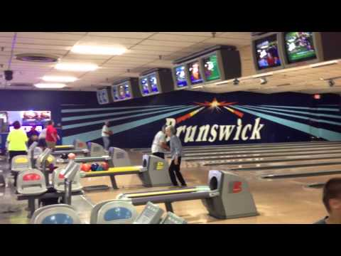 BOWLING :this lady is an inspiration Brunswick Belleville NJ 8 28 2014